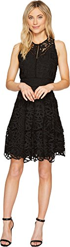 Adelyn Rae Women's Dylan Fit and Flare Dress Black Dress by Adelyn Rae
