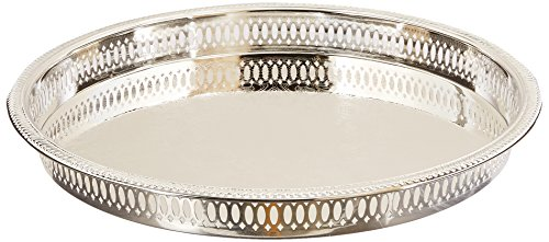 - Elegance Silver 8924 Round Silver Plated Gallery Tray, 12-3/4
