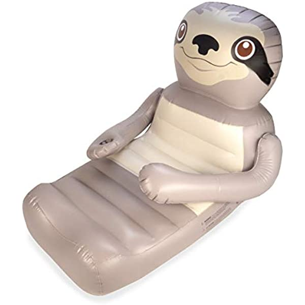 2 Inflatable pool float sloth /& kangaroo swimming raft toy lounger adults kids