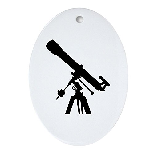 Telescope Ornament - CafePress Telescope Ornament (Oval) Oval Holiday Christmas Ornament