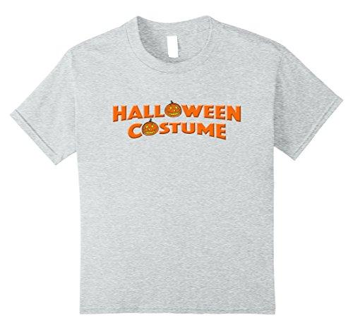 Kids Halloween Costume Tee Last Minute Halloween Party T-shirt 10 Heather Grey