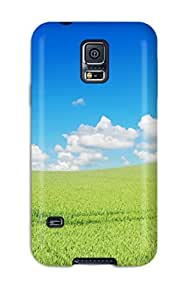 For Galaxy Protective Case, High Quality For Galaxy S5 Beautiful Green Landscape Skin Case Cover