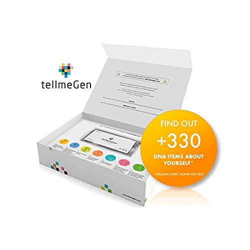 Test ADN (Salud + Ancestry) Prueba Genetica - ☆ TellmeGen ☆ +330 Informes Online: El test de ADN más completo para el hogar (Riesgo de Enfermedades, ...