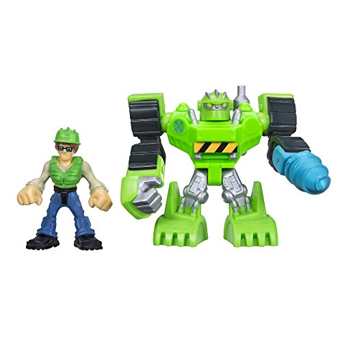 Playskool Heroes Transformers Rescue Bots Boulder The Construction-Bot & Graham - Human Boulder