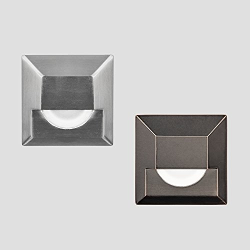 WAC Lighting 2061-30SS WAC Indicator 3 inch Led 12V Square Step & Wall Light In Stainless SteelStainless Steel by WAC Lighting