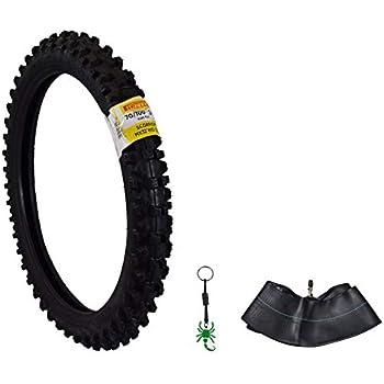 Pirelli Scorpion MX32 Mid Soft Dirt Bike Front//Rear Motocross Tube Type Tire with Authentic Pirelli Scorpion Key Chain 90//100-14 Rear