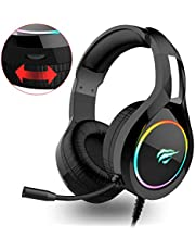 HAVIT Gaming Headset für PS4 Stereo PC Headset, Over-Ear Kopfhörer für Xbox, Laptop, Mac