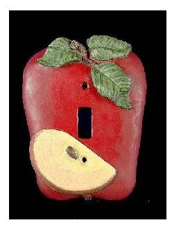 - Red Apple Shaped Single Switchplate