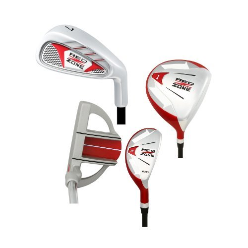 Merchants of Golf Black/Red 5-Piece Red Zone Golf Set/Stand Bag (Ages 12 and Up), Regular, Right Hand, Graphite by Merchants of Golf
