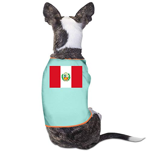 LNUO-2 Pet Clothes, Flag of Peru Dog Cat Shirt Clothing]()