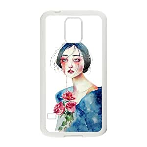 Samsung Galaxy S5 Cell Phone Case White Woman are made of water LV7000687