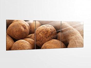 Amazon De Acrylglasbilder 3 Teilig 150x50cm Kartoffel Kartoffeln