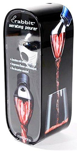 Rabbit Wine Opener with Best Wine Accessories - Rabbit Vertical Corkscrew, Foil Cutter, Extra Spiral, Rabbit Wine Aerator Pourer, Rabbit Wine and Beverage Bottle Stopper by Rabbit (Image #4)