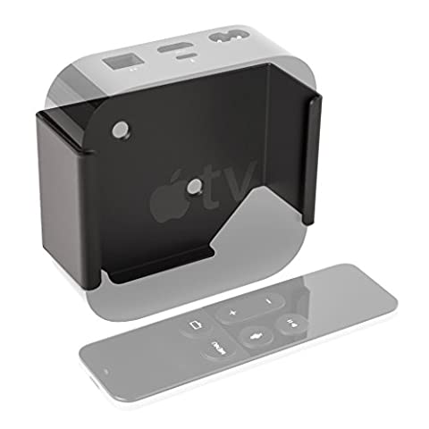 HIDEit ATV 4 - 2015 Wall Mount for 4th Generation Apple TV | Made in the USA (Out Of Sight Bracket For Apple Tv)