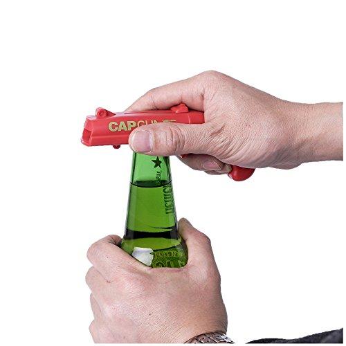 Cap Gun Launcher Shooter Bottle Opener,Beer Openers - Shoots Over 5 Meters (Gray) by Frola (Image #3)