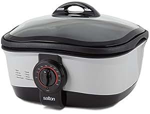 Salton 9 in 1 Multi Cooker, 5-Litre, Black/Silver