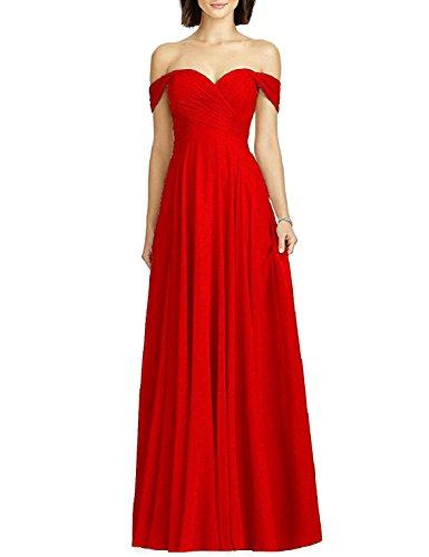sera formale abito chiffon sera VIPbridal lungo da da da abito in sera femminili sposa Rosso da Abiti wqHSqZE