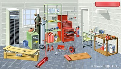 "Fujimi GT2 Garage & Tools ""Tool"" 1/24 scale"
