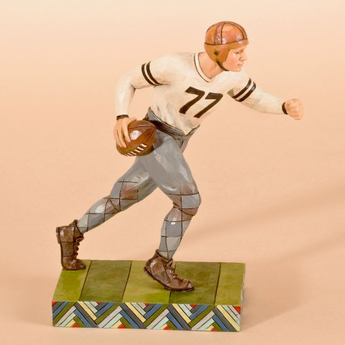 Figurine Player Football - Jim Shore Heartwood Creek Football Player Figurine, 7-Inch
