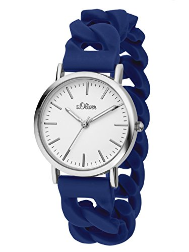 S.Oliver Women's Analogue Quartz Watch with Silicone Strap – SO-3261-PQ