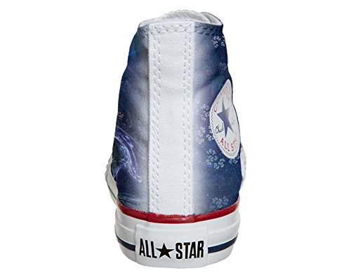 Converse All Star Hi Personnalisé et Imprimés chaussures coutume, Sneaker Unisex (produit Italien artisanal) Infinity Texture