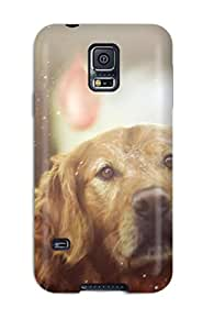 New Style Tpu S5 Protective Case Cover/ Galaxy Case - Dog Does Not Really Like Balloons Burst