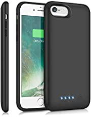 Battery Case for iPhone 6/6S/7/8, Trswyop【6000mAh High Capacity 】Charger Case for iPhone 6 6s 7 8 Protective Portable Charging Case Rechargeable Extended Battery Pack (4.7 inch) - Black