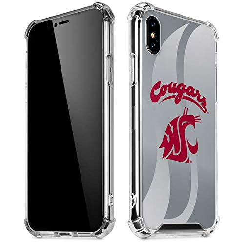 Skinit Washington State Cougars iPhone XR Clear Case - Officially Licensed Washington State University Phone Case - Slim, Lightweight, Transparent iPhone XR ()
