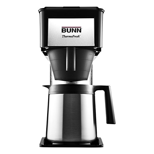 BUNN BT Velocity Brew 10-Cup Thermal Carafe Home Coffee Brewer, Black (Coffee Maker Thermal Pot)