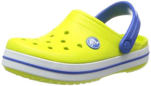 crocs Crocband Kids Clog (Toddler/Little Kid), Citrus/Sea Blue, 10/11 M US Little Kid
