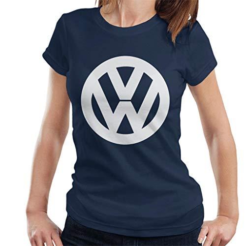 Volkswagen Classic White VW Logo Women's T-Shirt (Vw Logo Tshirt)