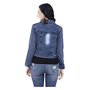 GSAMALL Women's STYLISHT Denim Jacket Combo of Two