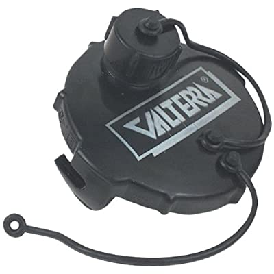 "Valterra T1020-1VP Waste Valve Cap - 3"" with Capped 3/4"" GHT, Black (Carded): Automotive"