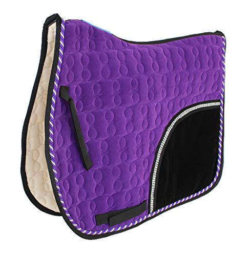 Challeger Horse Saddle Pad English All-Purpose Shock Absorbing Velvet Quilted 72140PR