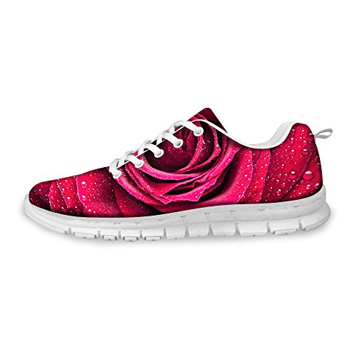 Unisex 5 Fashion Floral Sneakers Lightweight ThiKin Floral Shoes Mesh Casual AYnwz6x