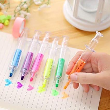 infermiere BE-TOOL idea regalo per bambini dottore ufficio colori misti lavoratori evidenziatore a forma di siringa