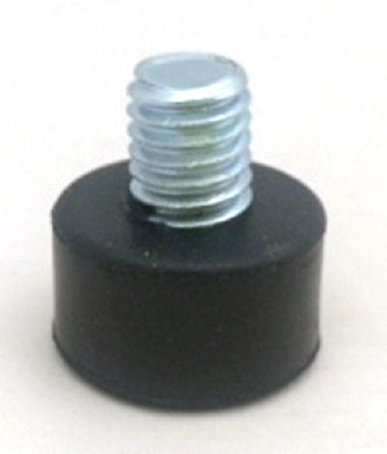 Rubber Foot, Feet, Bumper, Snubber, 3/8-16 Threaded Stud, 1/2 inch Foot Size