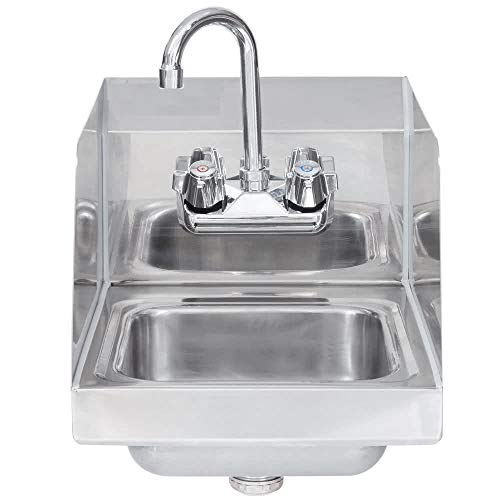 - Stainless Steel Hand Sink with Side Splash - NSF - Commercial Equipment 16
