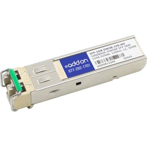 Image of AddOn SFP (Mini-GBIC) Module - for Data Networking, Optical Network 1 1000Base-DWDM Network - Optical Fiber Single-Mode - Gigabit Ethernet - 1000Base-DWDM - TAA Compliant - TAA Compliance Network Transceivers