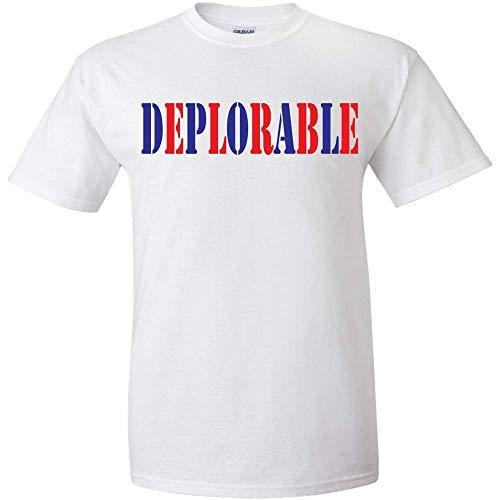 - Deplorable Red and Blue Logo T Shirt Mens Politics Political Election Democrat Republican Liberal Funny Adult Joke Clever Fun Tee