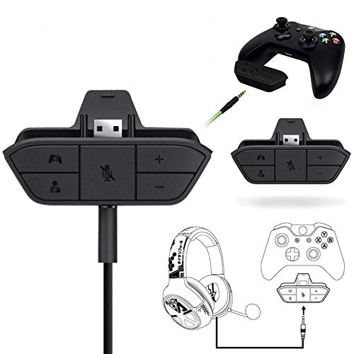 Stereo Headset Headphone Audio Game Adapter for Microsoft Xbox One Controller NB ()