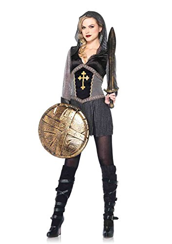 [Joan Of Arc Faux Chainmail Costume Bundle with Rave Shorts] (Joan Of Arc Costume Halloween)