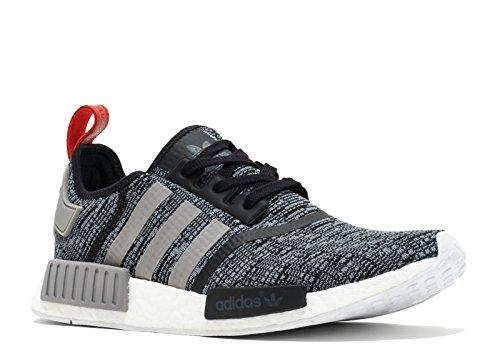 adidas Originals Men's NMD_R1 Glitch Graphic Core Black/Dark Grey Heather Solid Grey/Core Black Athletic Shoe