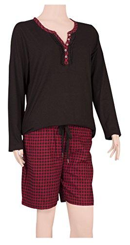 Ninety-One - Pijama - para mujer BLACK/ RED-BLACK CHECKS