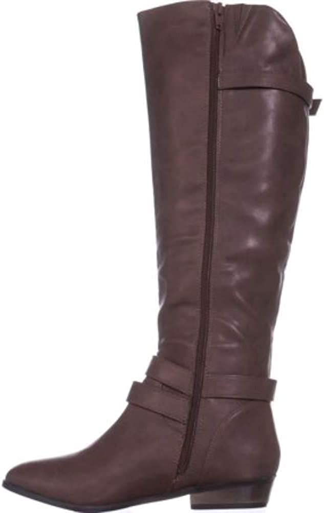 Material Girl Womens Carleigh Closed Toe Knee High Fashion Boots Cognac Size 7.0 M US