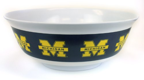NCAA Michigan Wolverines Melamine Party Bowl, 12-Inch by Marketing Results, Ltd.