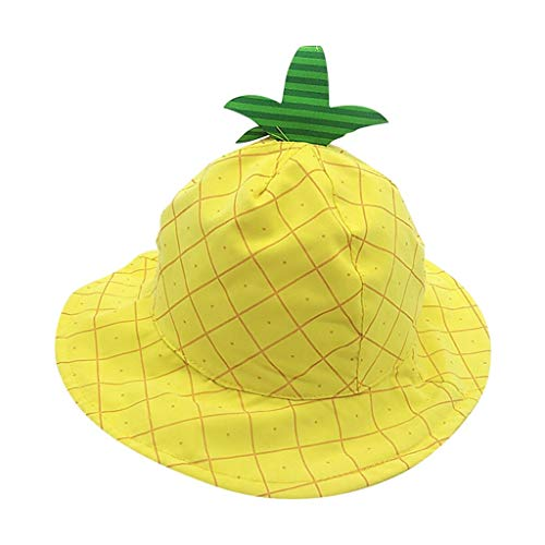 MOGOV Summer Toddler Baby Kids Boys and Girls Fashion Hat Children Super Cute Fruit Print Cap Yellow