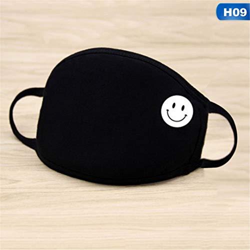 ANTIMOUCE&FM Unisex Winter Warm Thickening Mouth Mask Cotton Warm Dust Respirator Black Face Masks Women Anti-Dust 09