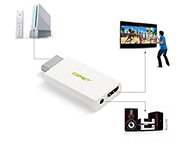 CSRET Wii to HDMI Converter 720P 1080P HD Output Wii 2 HDMI Upscaling Adapter