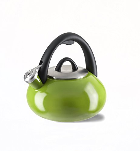 Calphalon Enamel Tea Kettle, 2-quart, Apple Green